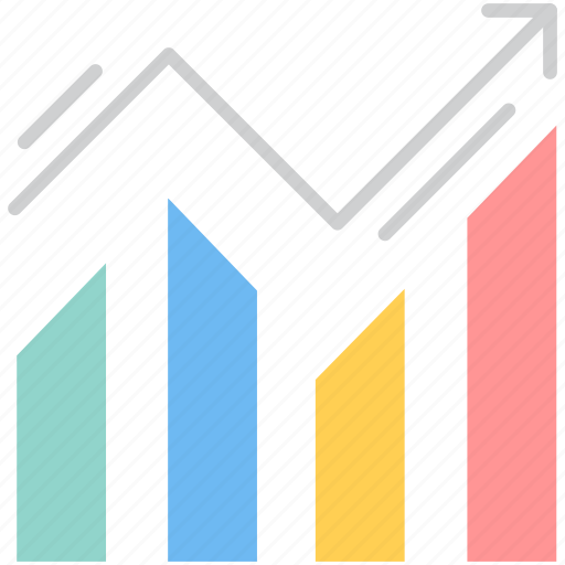 analysis, business graph, chart, graph, growth, line icon