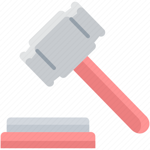 auction, hammer, judge, law, lawsuit, policies, rules icon