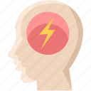 brain, bulb, creative, electricity, idea, light, mind icon