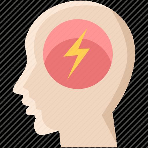brain, bulb, creative, electricity, idea, light, mind icon