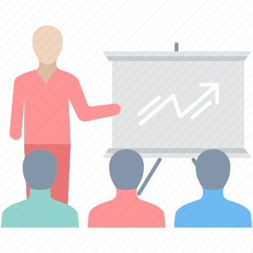 business, chart, finance, growth, presentation, report, sales icon