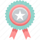 award, badge, label, medal, star, tag, winner icon