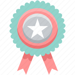 award, badge, label, medal, star, tag, winner icon