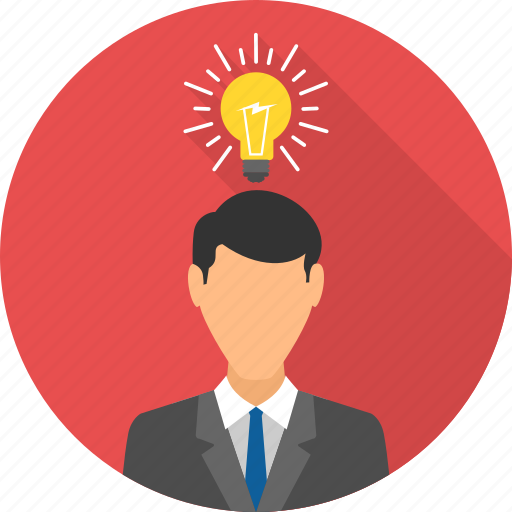business, idea, innovation, marketing, thought process icon