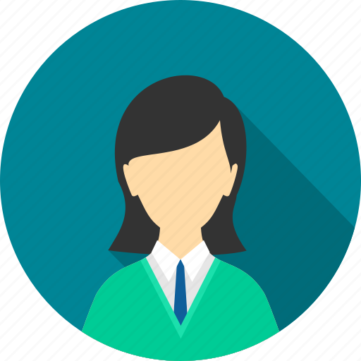 avatar, business, employee, female, profile, user, woman icon