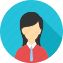 avatar, business, employee, female, person, user, woman icon