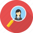 business, discover, find, locate, search, seo, work icon