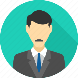 boss, businessman, manager, md, person, profile, user icon