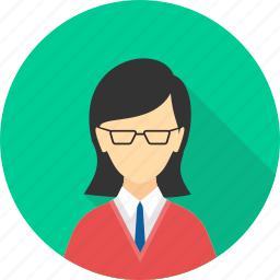 boss, business, employee, manager, profile, user, woman icon