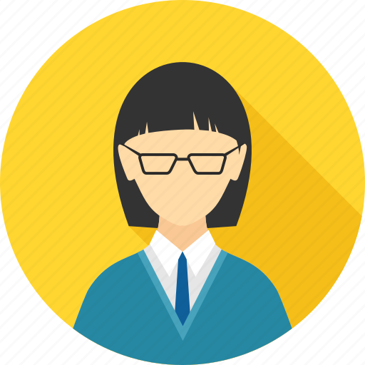 accountant, boss, employee, girl, lady, manager, profile icon