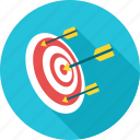 arrow, center, dart, dartboard, goal, shooting, target icon