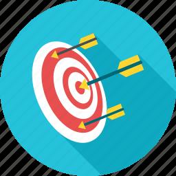 arrow, center, dart, dartboard, goal, shooting, target icon