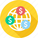 earn, earnings, finance, global, income, international, money icon