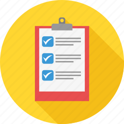 business, checklist, clipboard, itemlist, list, tick, tickmark icon