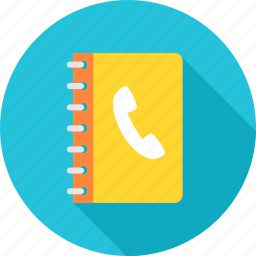 book, call, call list, contact, contact list, phonebook, register icon