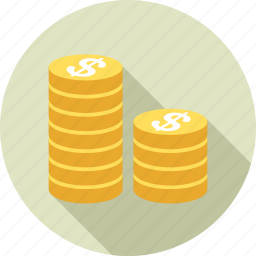 business, cash, coins, finance, financial, money, payment icon