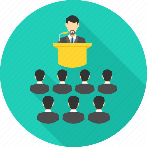 business, class, communication, conference, meeting, presentation, team icon