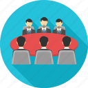 business, communication, conference, conversation, meeting, office, team icon