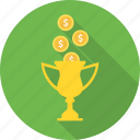 award, bonus, profit, reward, achievement, prize, trophy