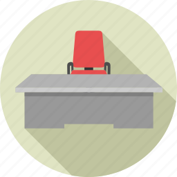 business, chair, office, table icon