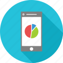 graph, mobile, phone, presentation icon