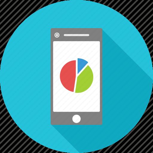 graph, mobile, phone, presentation icon