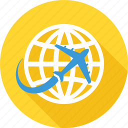business travel, country, global, international, travel, world icon