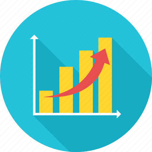 business, growth, increase, presentation, report icon