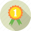 achievement, badge, best, medal, prize, reward, winner icon