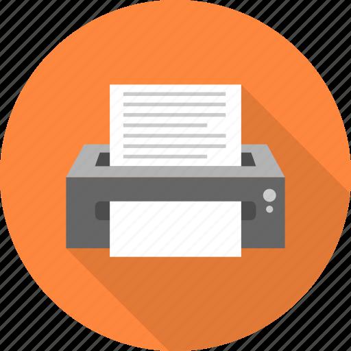 document, machine, paper, print, printer icon