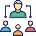 collaboration, leadership, people group, team, team leader icon