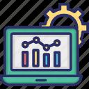 market inclination, market trend, web development, web growth, web setting icon