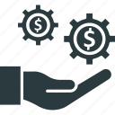 economics, financial development, financial market, growth, money manager icon