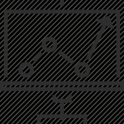 board, office, presentation, progress icon