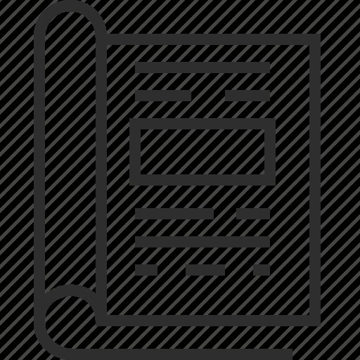 magazine, office icon