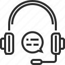 earphones, microphone icon