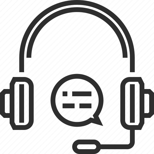 earphones, microphone icon