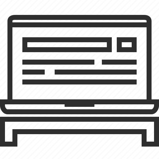 browzer, laptop icon