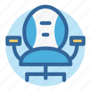 business, chair, furniture, households, office, room, work icon