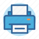 business, office, print, printer, report, room, work icon