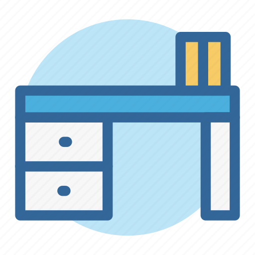 business, desk, furniture, office, room, table, work icon