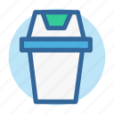 can, garbage, office, room, rubbish, trash, work icon