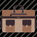 bag, briefcase, case, office
