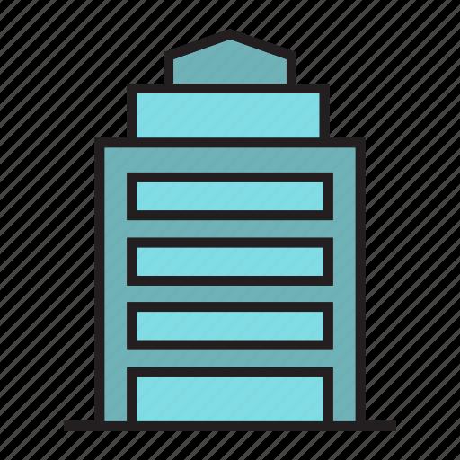 building, condo, edifice, office, real estate, structure, tower icon