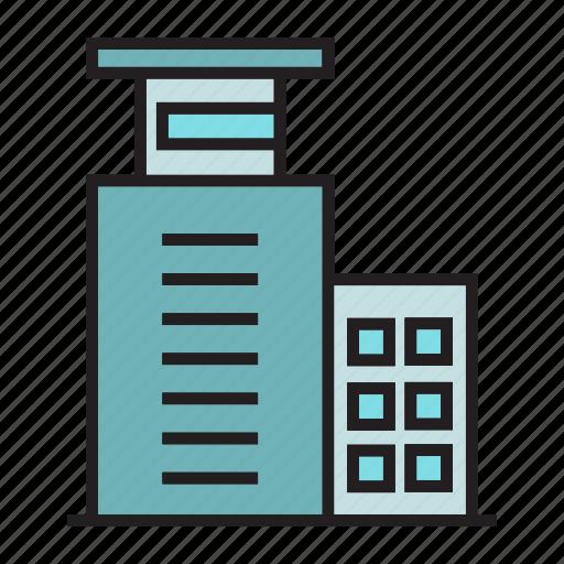 apartment, building, condo, edifice, office, structure, tower icon