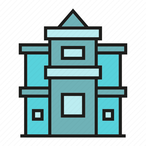 building, edifice, house, real estate, residence, structure, tower icon