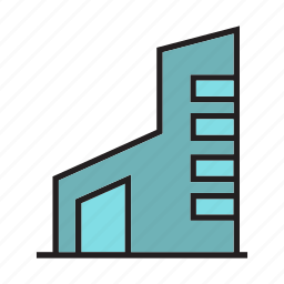 accommodation, building, office, real estate, residence, room, tower icon