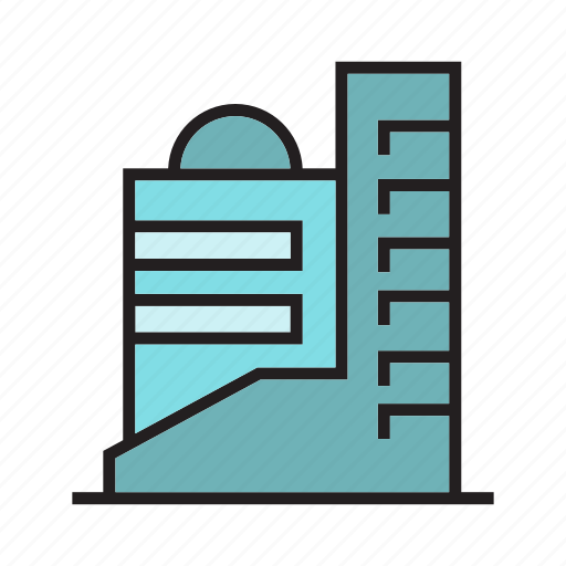 accommodation, apartment, building, condo, hostel, office, tower icon