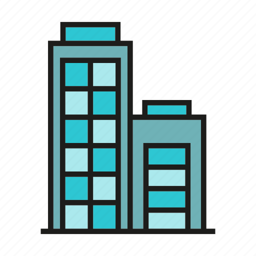 accommodation, apartment, building, hostel, office, structure, tower icon