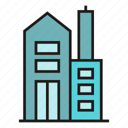 building, home, house, office, real estate, structure, tower icon
